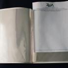 présentoir avec enveloppes